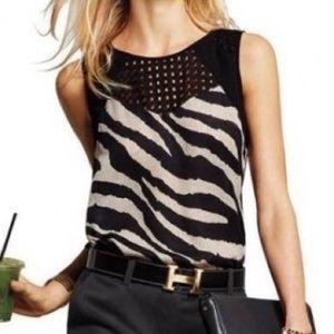 CAbi | #5046 Tivoli Zebra Print Top